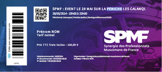 billet SPMF soiree 28 mai