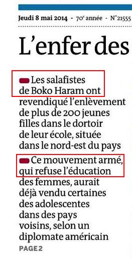 boko haram salafiste