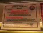 certificat scfvh charal auchan