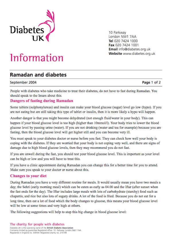 diabetes uk 2004