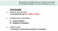 semaine de la sante mosquée de Lyon