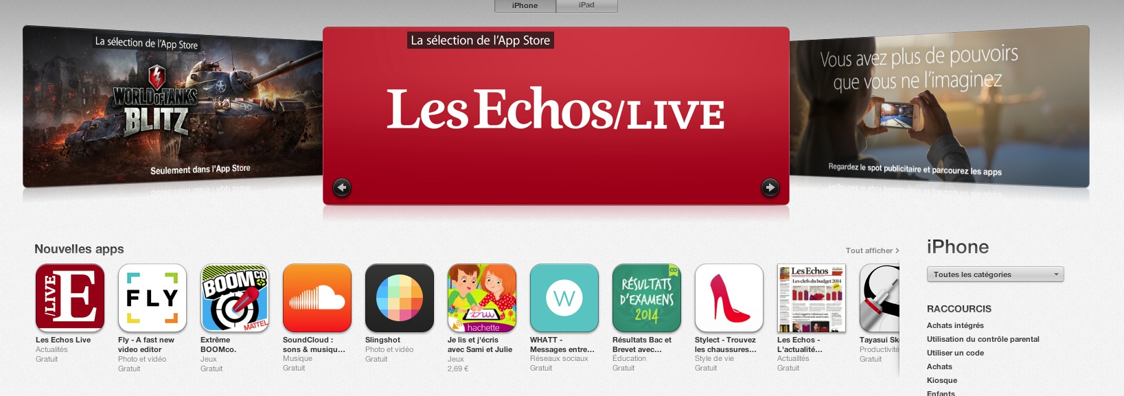 les echos selection applestore