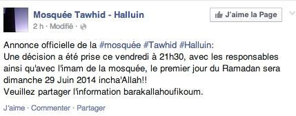 mosquée Tawhid - Halluin
