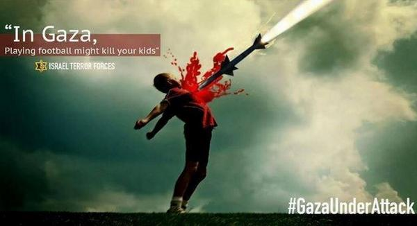 In Gaza Playing Football Might Kill Your Kids