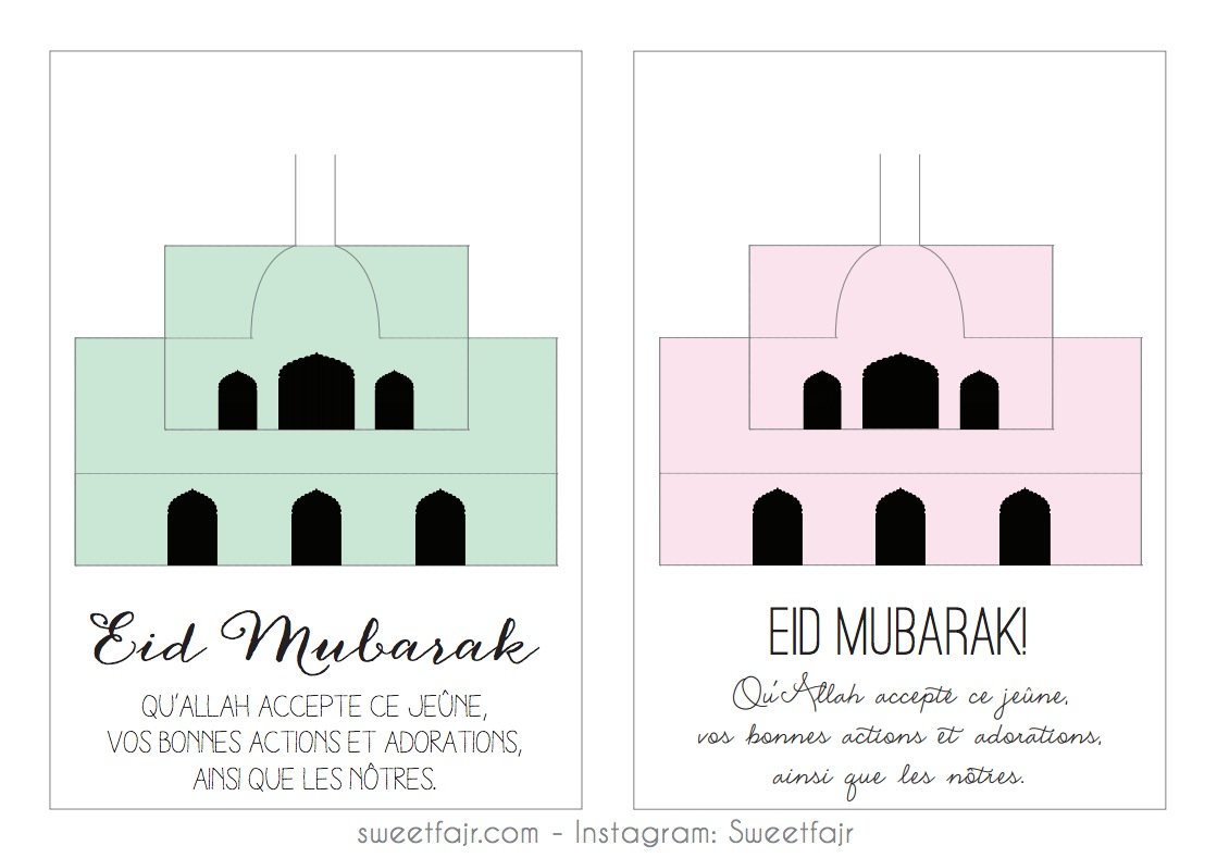eid mubarak mosquee pop up 3