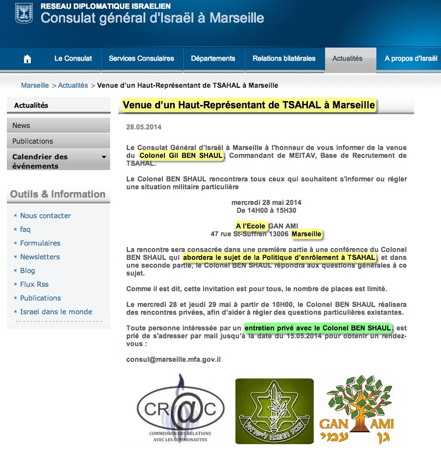 import conflit tsahal marseille
