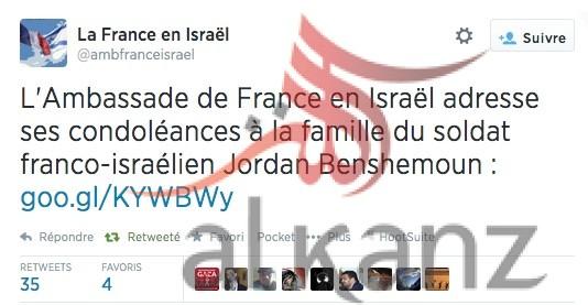 la france en israel - twitter