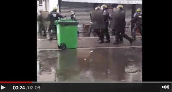 police crs ldj rue de la roquette paris 1