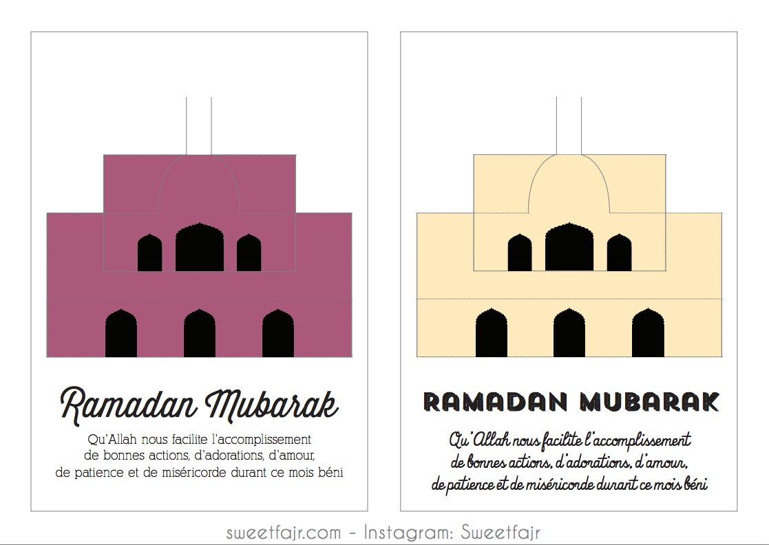 ramadan mubarak mosquee pop up 1