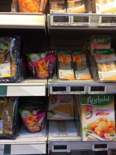 auchan produits halal