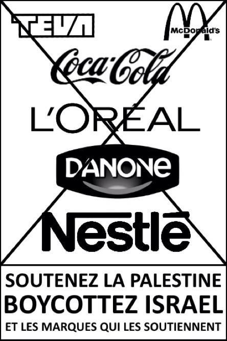 boycott israel flyer