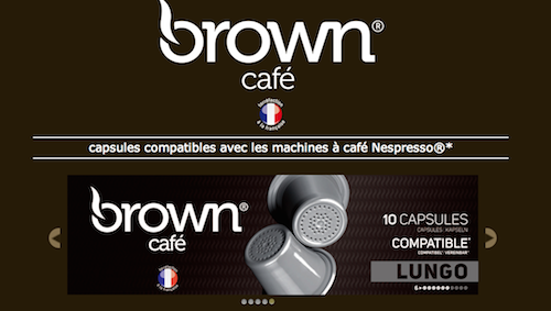 brown cafe nespresso