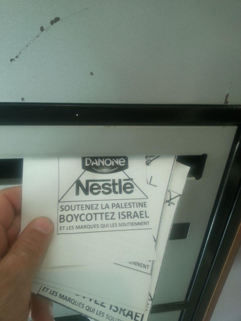 pare-brise boycott israel 3