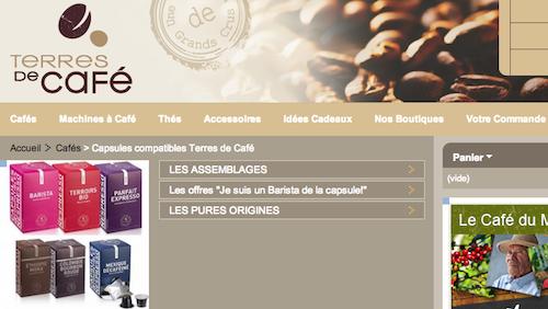 terre de café nespresso