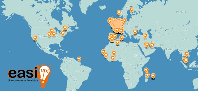 Carte des contributeurs - Easi Up.