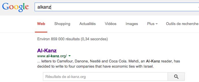 alkanz recherche google