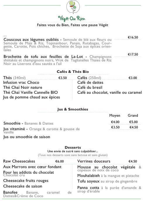 veget ou rien menu 2