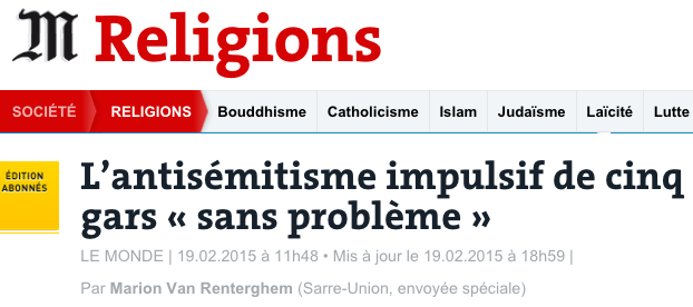 antisemitisme sarre union