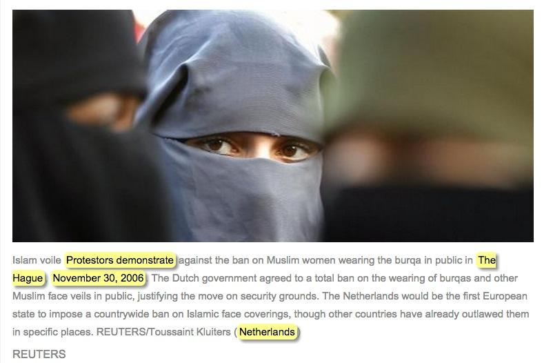 manifestation burqa la hague
