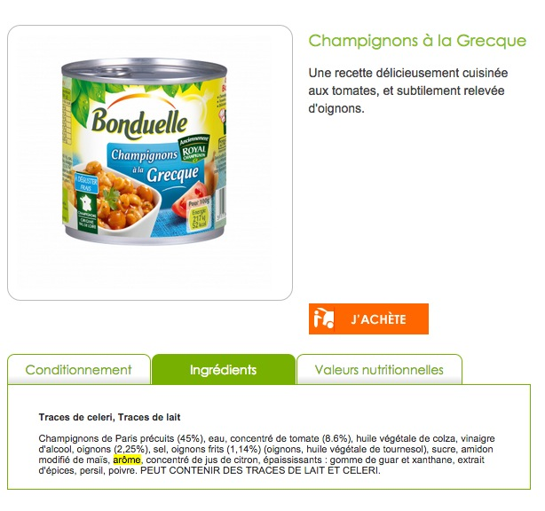bonduelle Légumes façon Couscous
