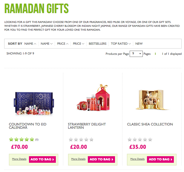 the body shop ramadan gifts