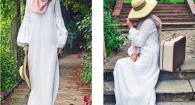 fringadine robe boho blanche