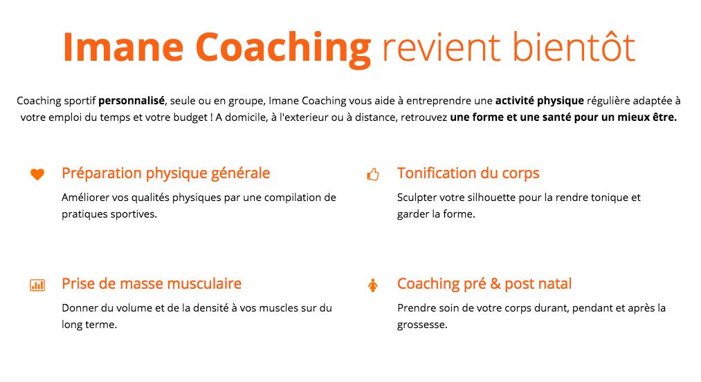 imane coaching