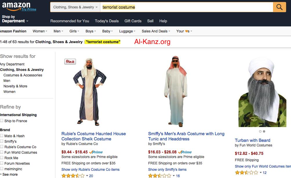 terrorist costume amazon