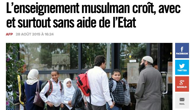 enseignement musulman ecole