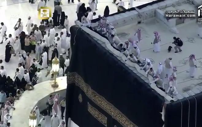 Kiswa la kaaba rev t sa nouvelle toffe for L interieur de la kaaba
