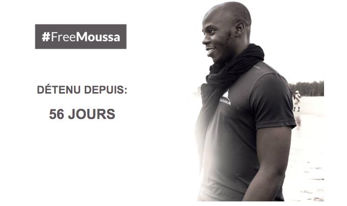 #FreeMoussa 56 jours
