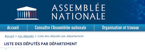 depute assemblee nationale