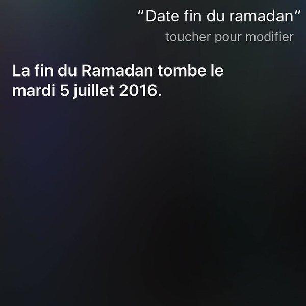 fin du ramadan 2016