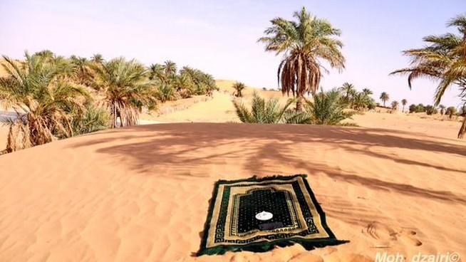 prière au sahara