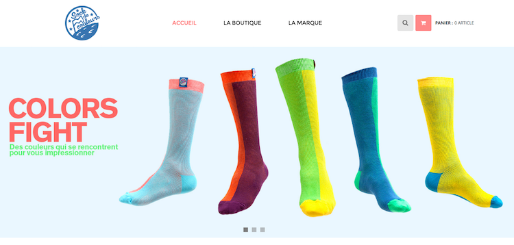 sock de couleurs