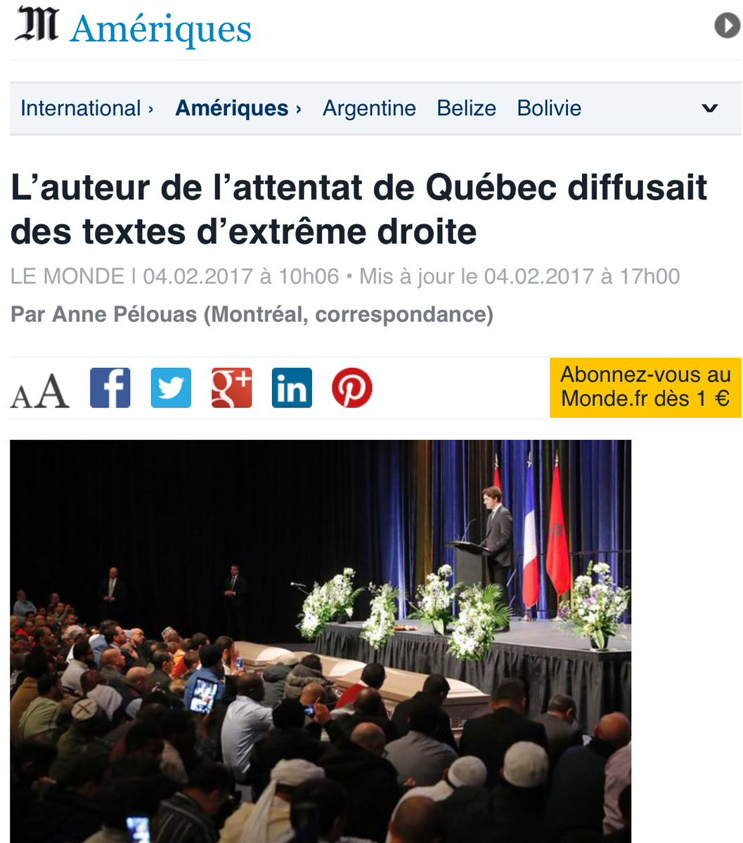 attentat quebec