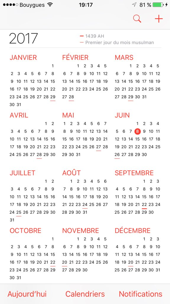 calendrier musulman iphone