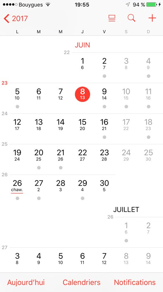 calendrier musulman mensuel iphone