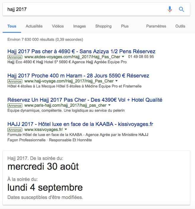 hajj 2017 google