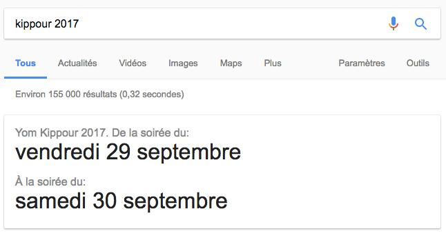 kippour 2017 google