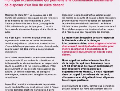 mosquee clichy opposition