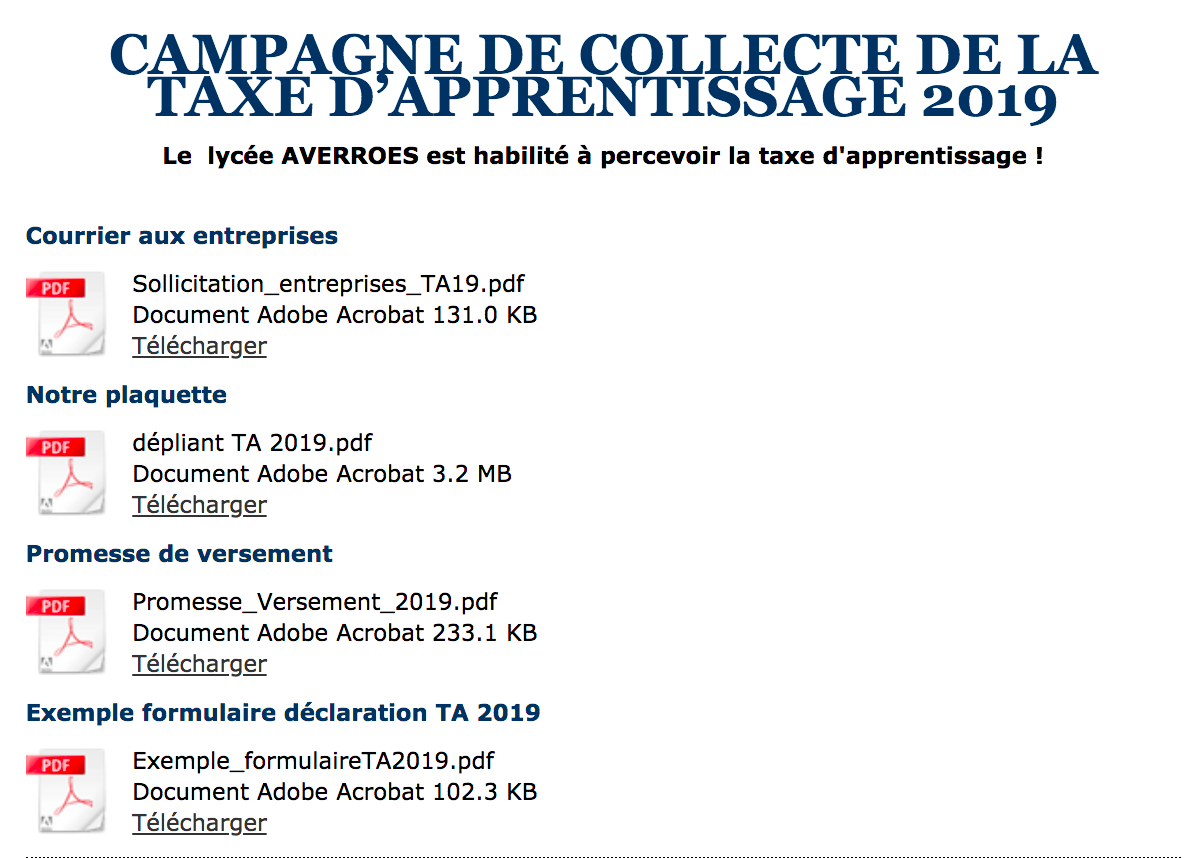 taxe apprentissage Averroes