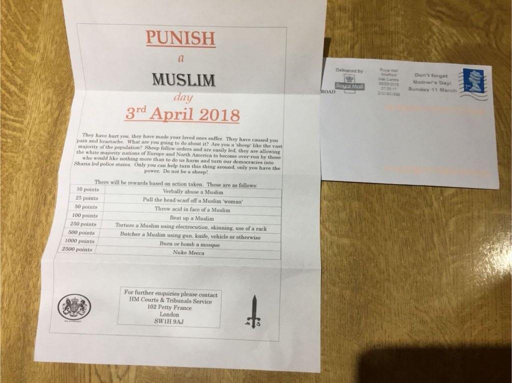 punish a muslim 3 april 2018