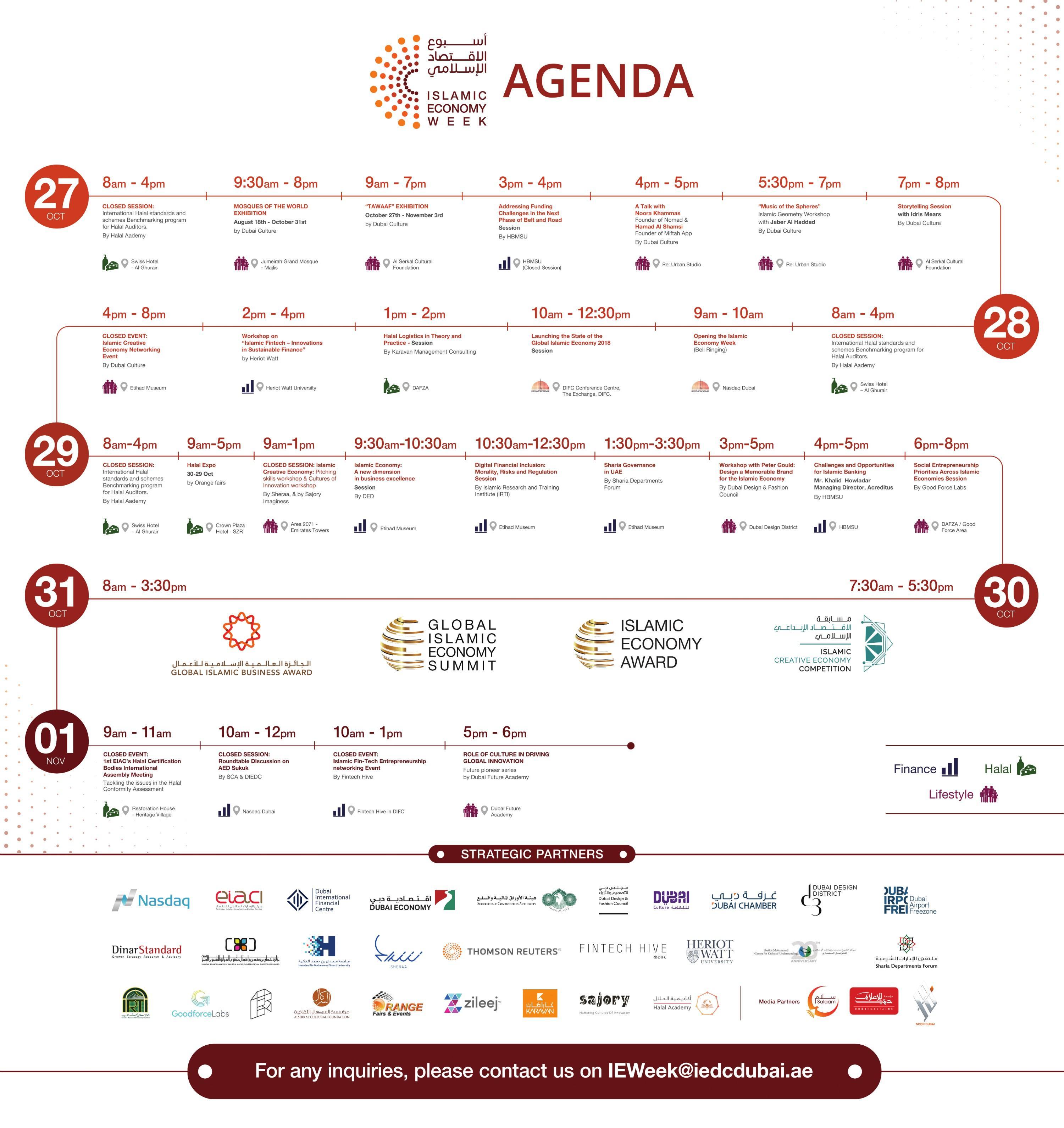 Islamic Economy Week Agenda