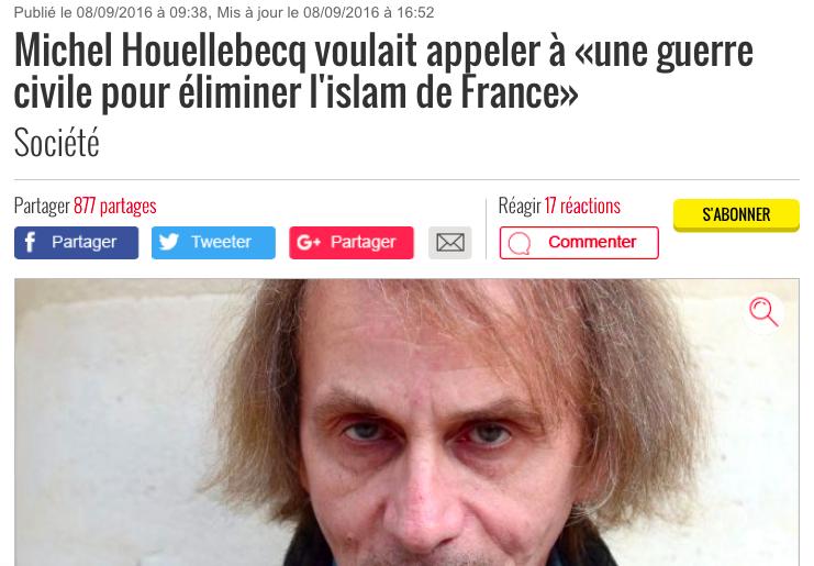 guerre civile Houellebecq