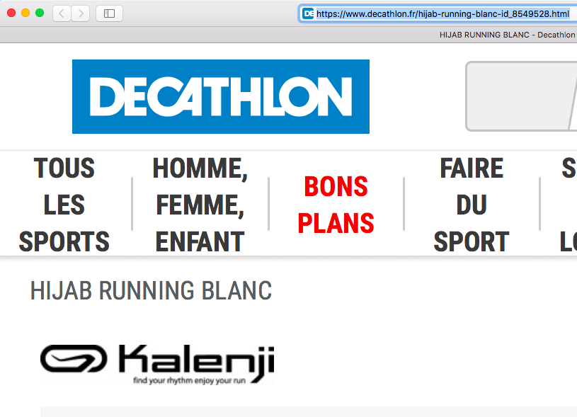 Decathlon hijab