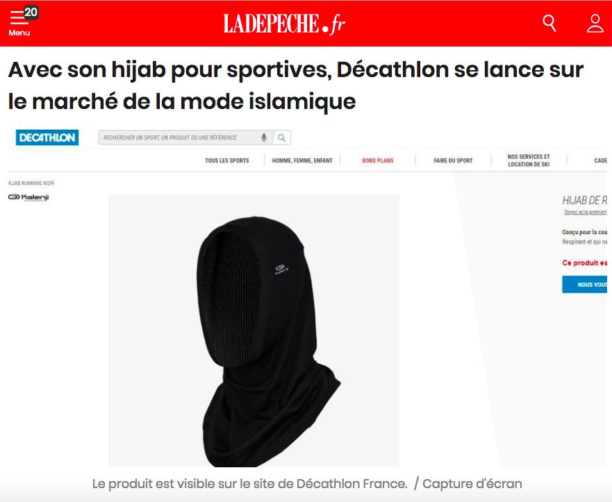 Hijab de Décatlon : quand La Dépêche du Midi plagie Al-Kanz