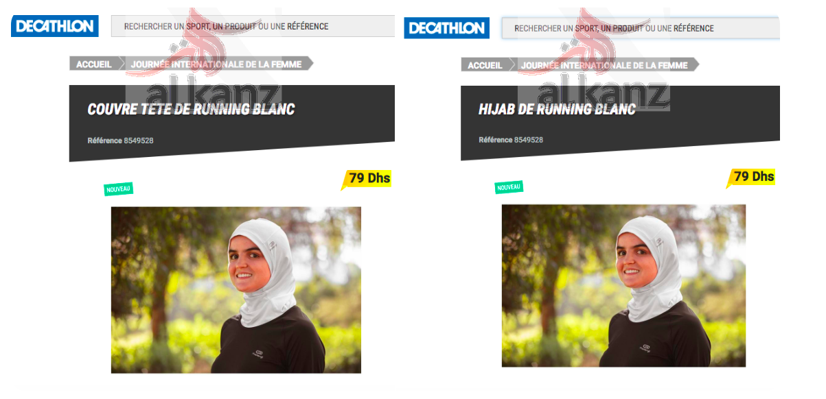 decathlon hijab couvre tete
