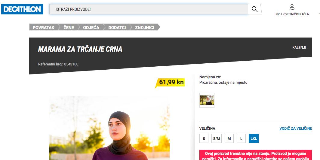 Hijab running Decathlon Croatie