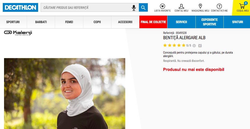 Hijab running Decathlon Decathlon Roumanie